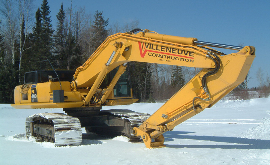 Auxiliary Hydraulic Piping For Excavator Boom